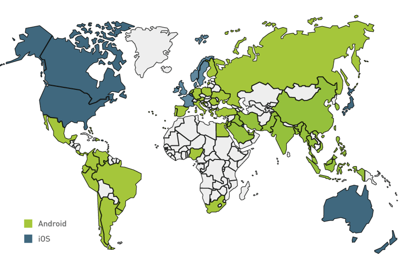 Apple vs android a comparative study 2017 androidpub geography distribution gumiabroncs Images
