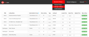 PriceLabs review, Manage Listings