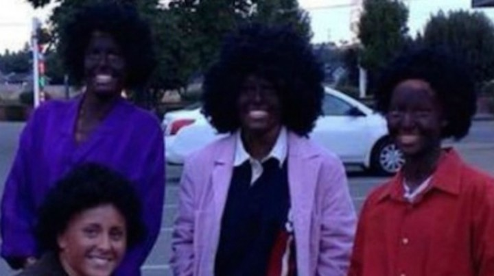 Whitworth University soccer teammates in Blackface. They were suspended.