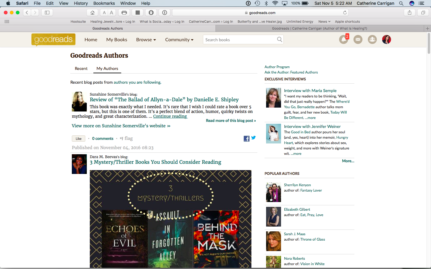 When You Add Your Blog to Goodreads It Shows Up Under A Feed For All Your Friends and Followers