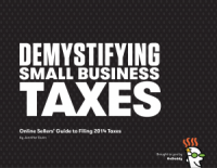 cover of tax guide for online sellers, one of GoDaddy's free ebooks for small business