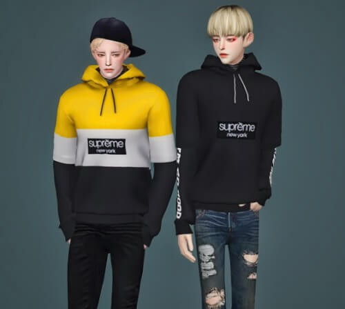 M Nate hoodie by MeeyouX for The Sims 4