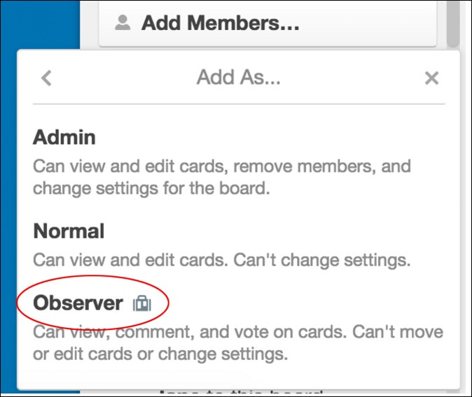 Trello add read-only observer