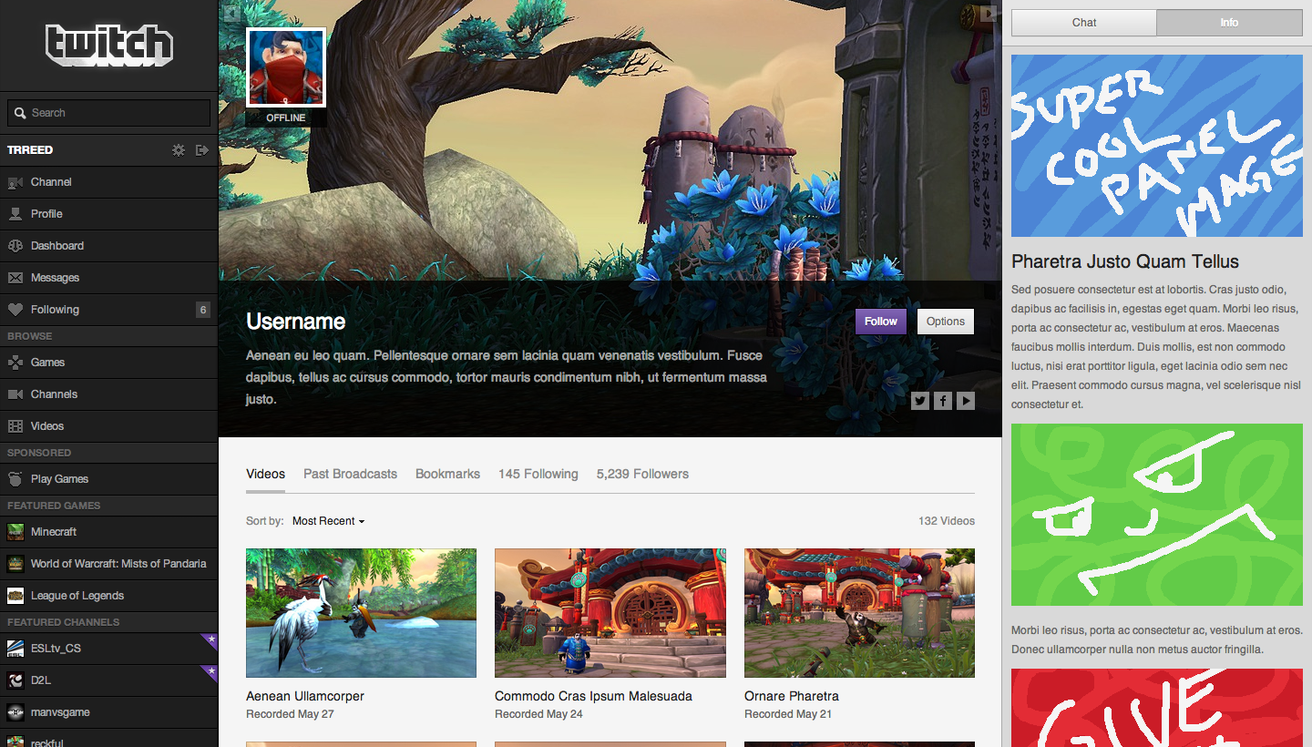 Introducing Your Profile \u2013 Twitch Blog