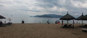 Our beach at Nha Trang. Ah, this is what being a digital nomad is all about - being able to enjoy this