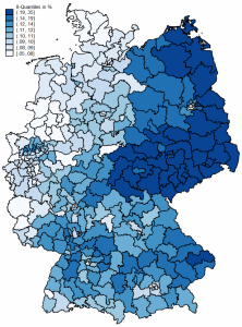 Elections in Europe: a map of AfD results in Germany