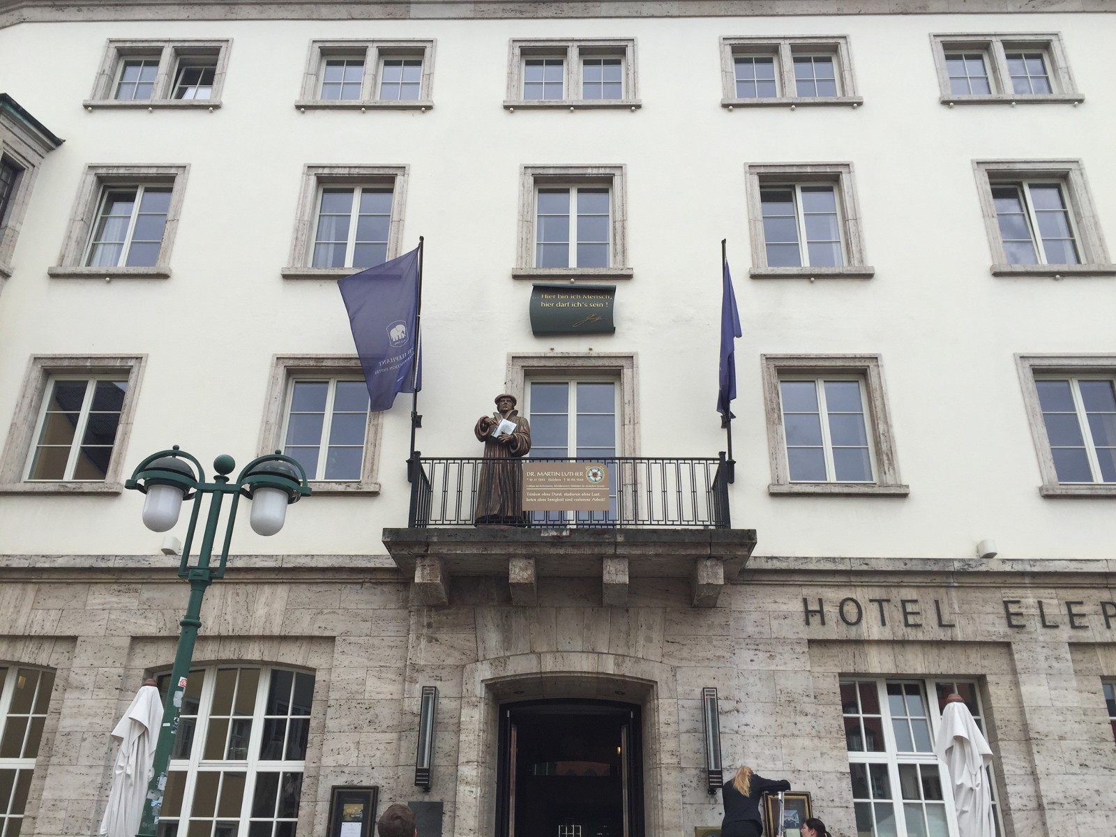 The balcony of Hotel Elephant where both Martin Luther and Adolf Hitler stood