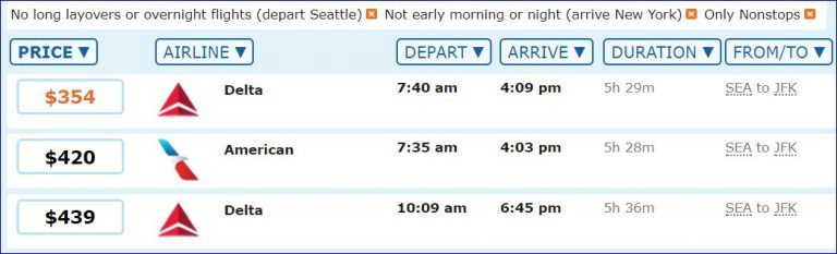 Ultimately, these are the flights worth considering