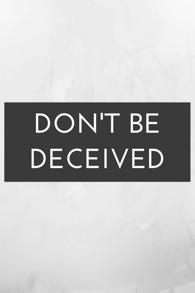 Deception literally means the act of causing someone to accept as true or valid what is false or invalid : the act of deceiving. I want to contend that there are three large areas that have led to an incredible increase in deception in modern Christianity. The result is absolutely dangerous: false Christianity.