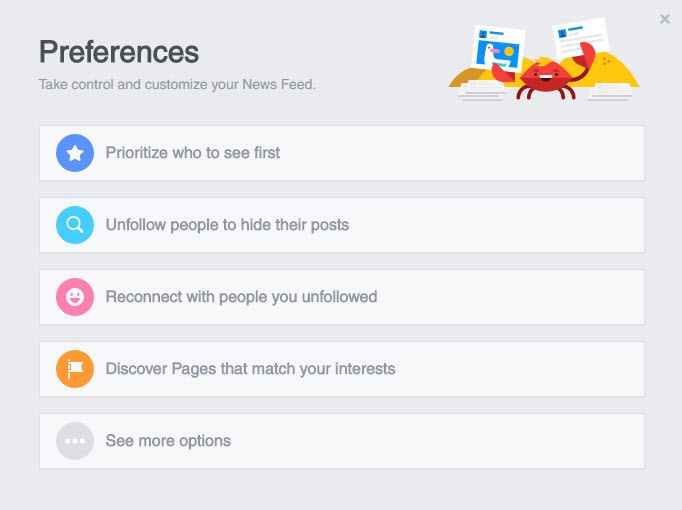 How to customize your facebook news feed