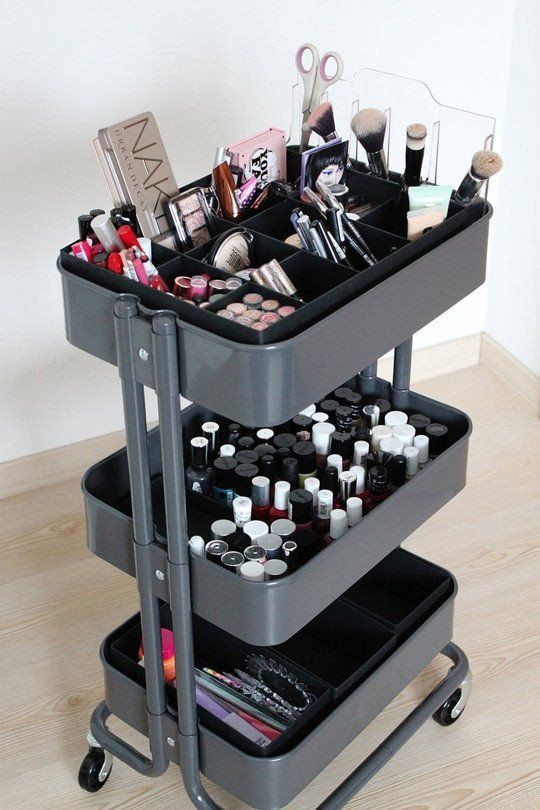 Using IKEA Raskog cart for your makeup collection