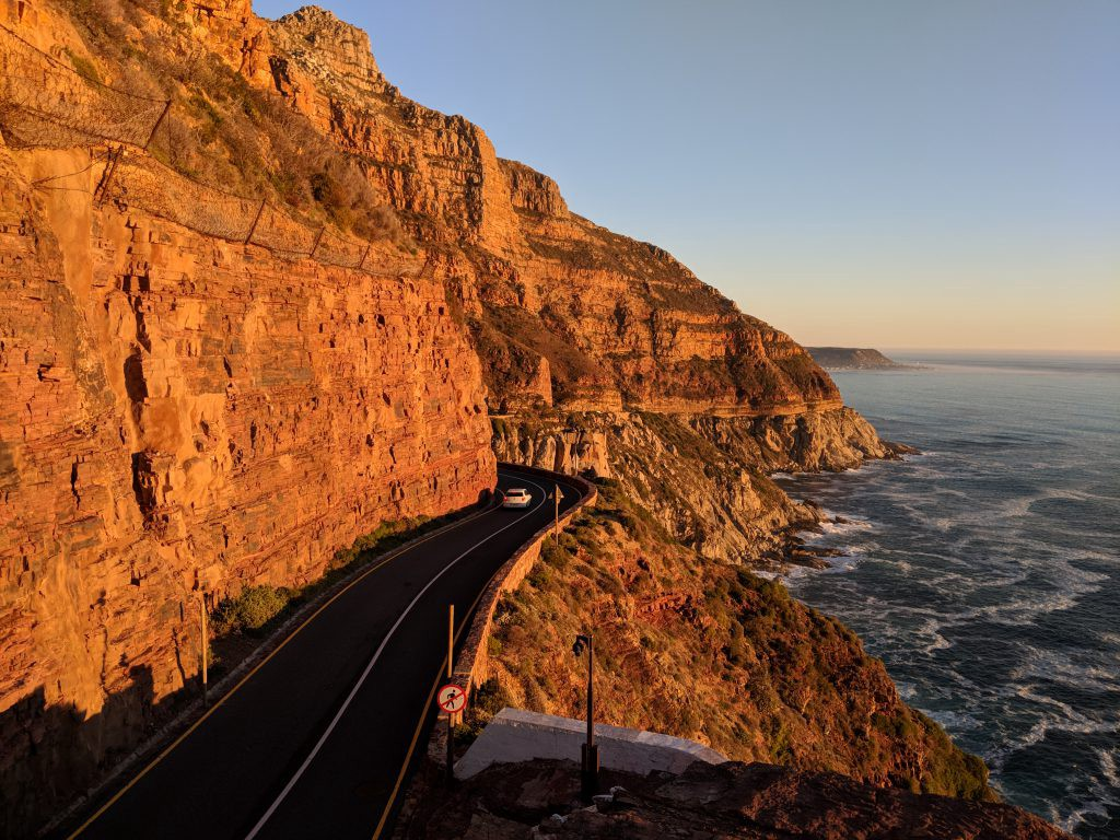 The view of the western Cape coastline from Chapman's Peak Drive