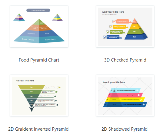 Brand new free pyramid diagram templates for multi exporting options start from free edraw pyramid diagram template creating a pyramid diagram in edraw is easy it only takes a few seconds to choose a basic template ccuart Images