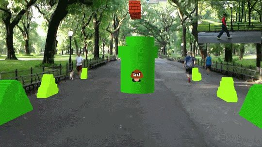 An augmented reality version of the iconic first level of Super Mario Bros. now exists.
