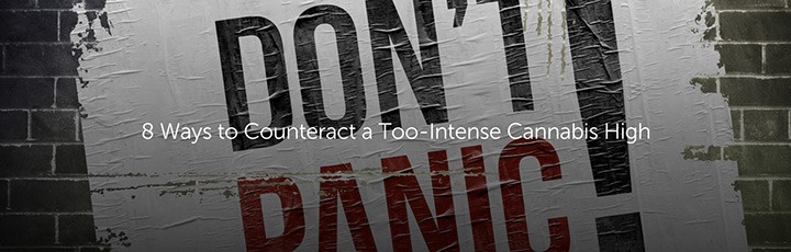 counteract a too intense cannabis high