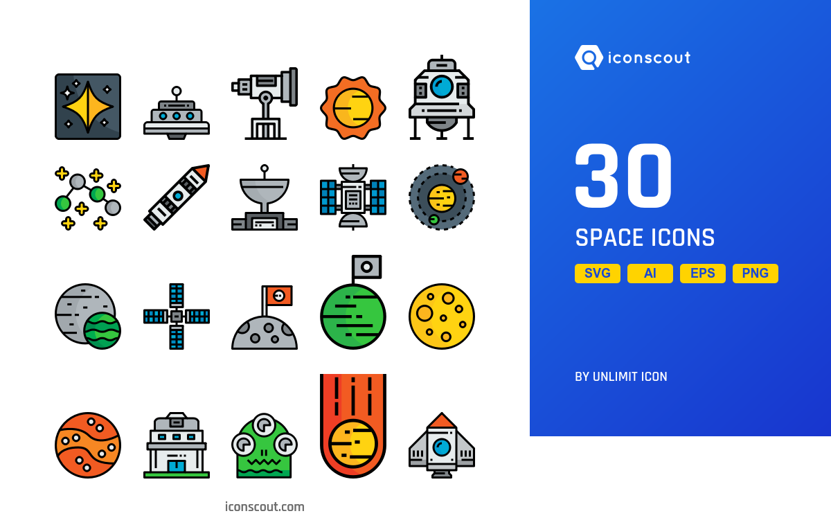 Space icons by Unlimit Icon