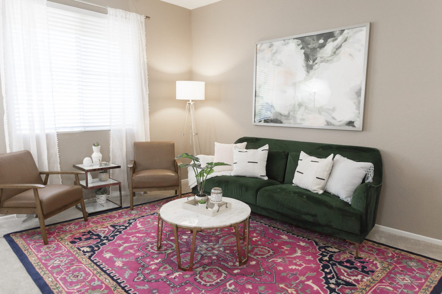 Colorful Living Room Makeover featured by top Orange County lifestyle blog, Dress Me Blonde