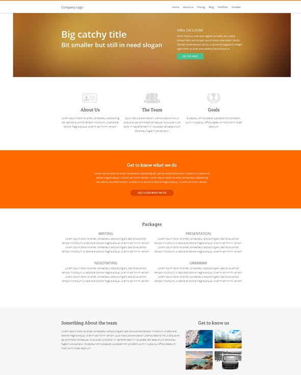 30 fresh html5 and css3 website templates.