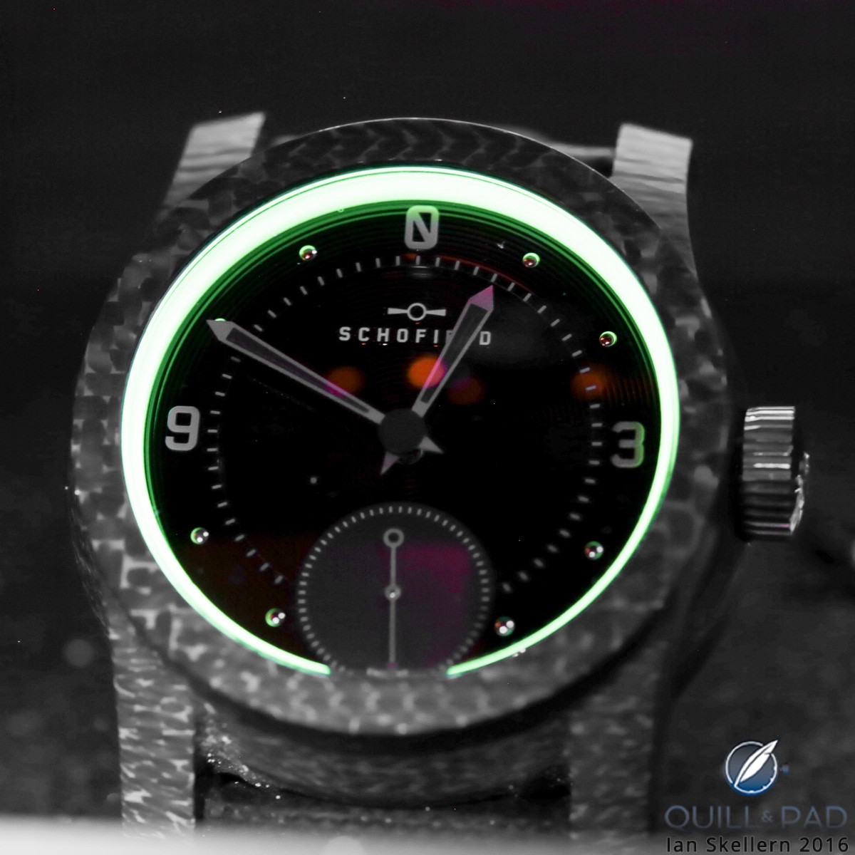 Schofield Blacklamp Moonglow with lume by Black Badge