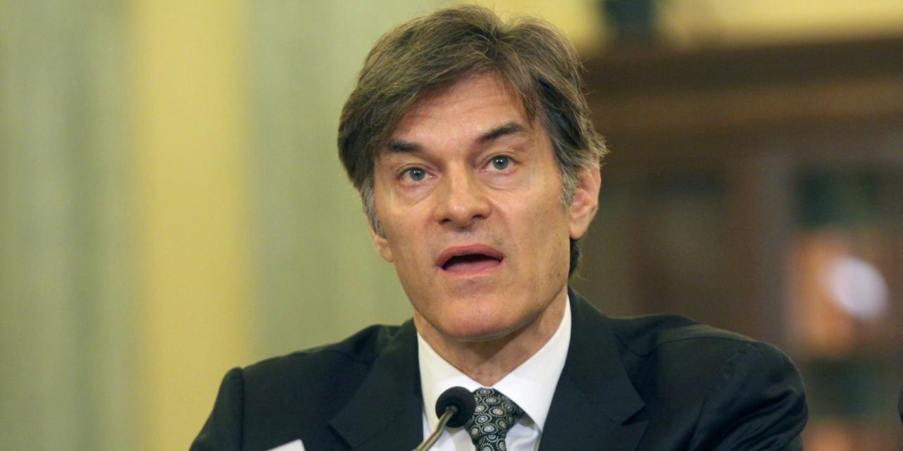 Dr. Oz Grilled In Congress, Admits Weight Loss Pro