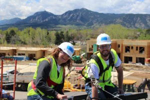 Renewable Choice staff installing solar on a home in Boulder