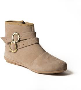 Babes Women Beige Ankle Boots
