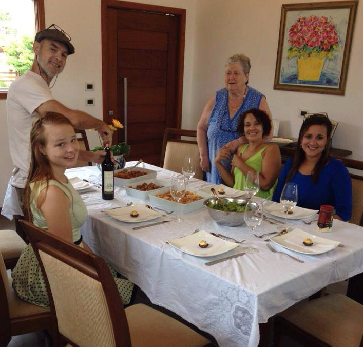 "Paulina with her host family in Brazil ""I didn't want to leave; I cried every day for a week."""