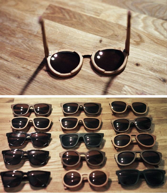 5d4b385711e A couple weeks ago I ducked into Voyager on Valencia Street and saw my  dreams made real. Wooden sunglasses! Handmade in San Francisco!
