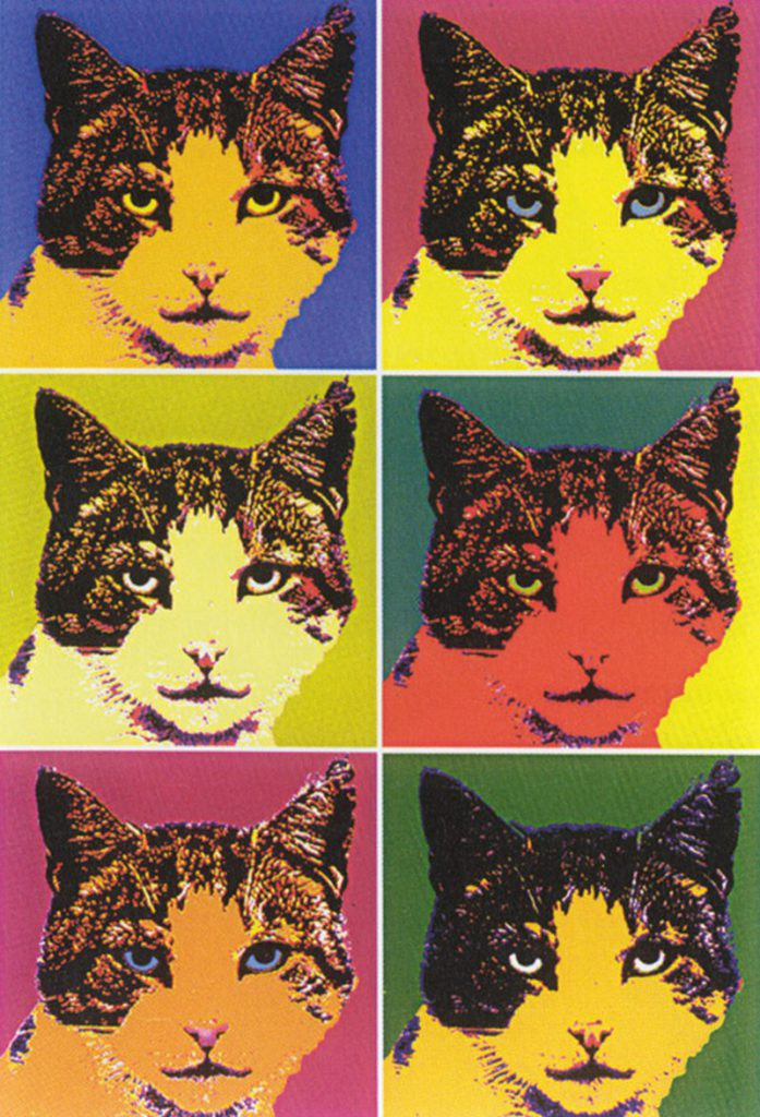 Andy Warhol Cats painting