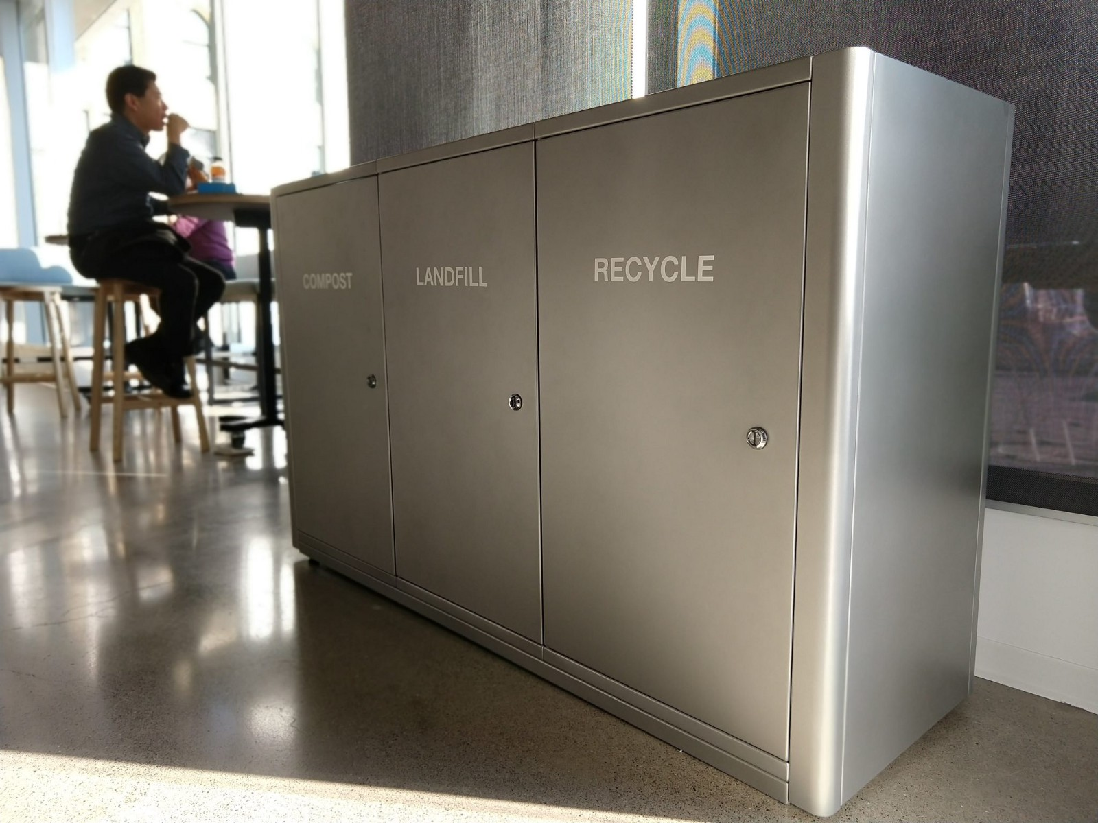 Sustainable workplaces make recycling and composting easy