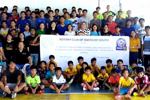 Rotary Club of Bacolod South Football Challenge 2017 - group photo