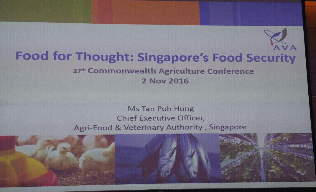Ava on Singapore food security at 27th Commonwealth Agriculture Conference