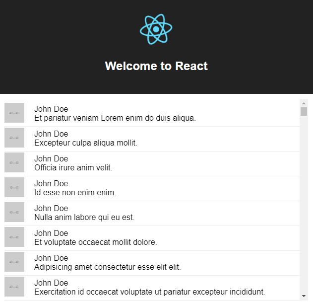 Rendering large lists with React Virtualized