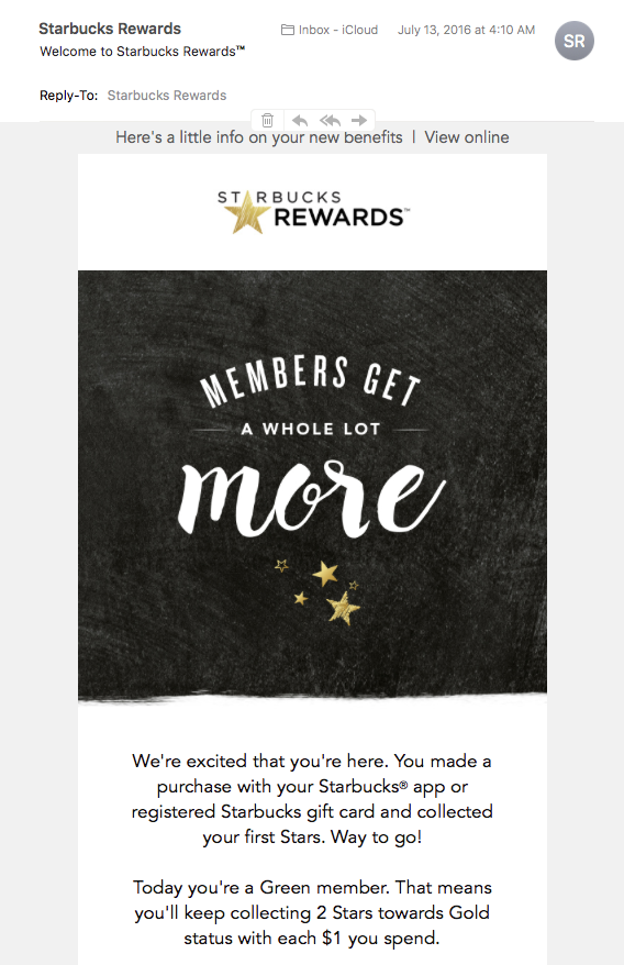 Message reads: members get a whole lot more