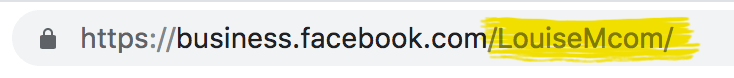 this is your Facebook Page URL