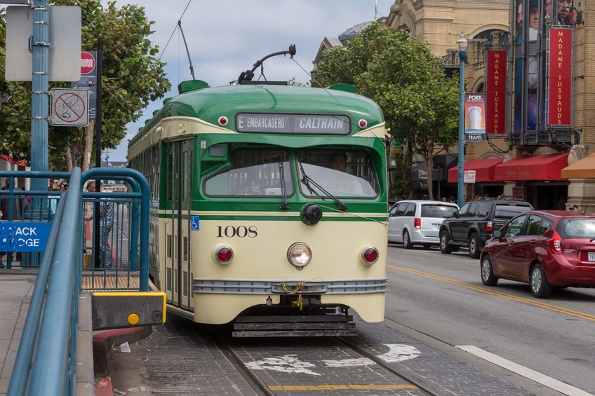 The Caltrain rail service provides an easy way for visitors to get around the San Francisco Bay Area.