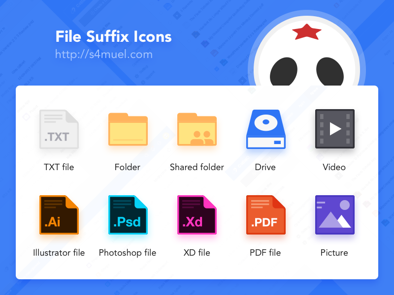 File Suffix icon collection by S4MUEL