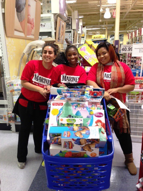 Volunteers From Atlantic Street Center Turned Out In Force To Shop For  1,500 Children.