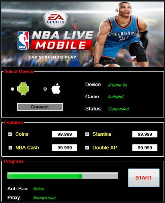 NBA Live Mobile Cheats