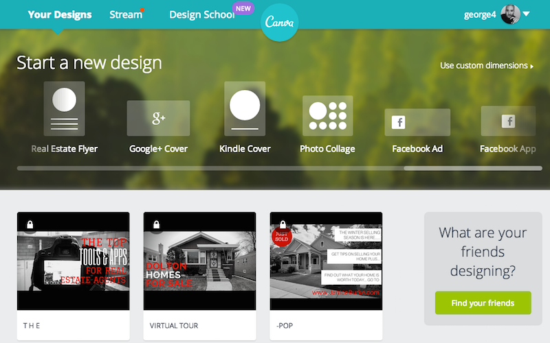 The Best Online Graphics Design Tool for Real Estate Agents Canva