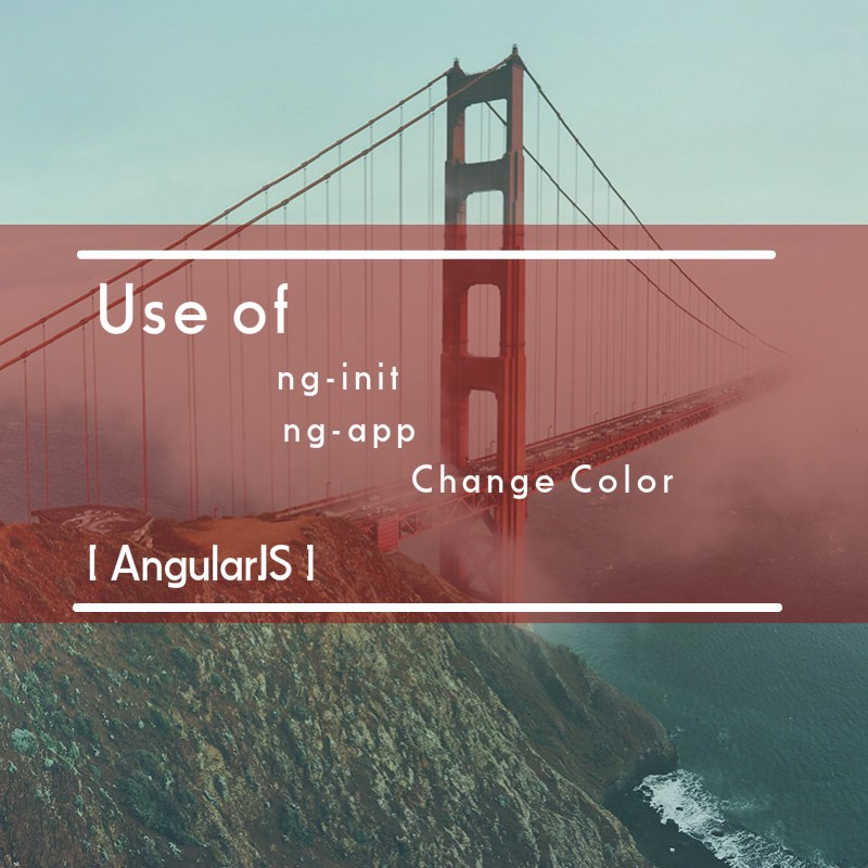 1st AngularJS- use of ng-init for change color