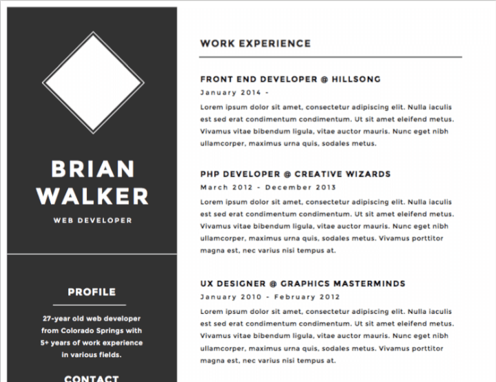 30 Best Free Illustrator Resume Templates in 2018 – GoSkills – Medium