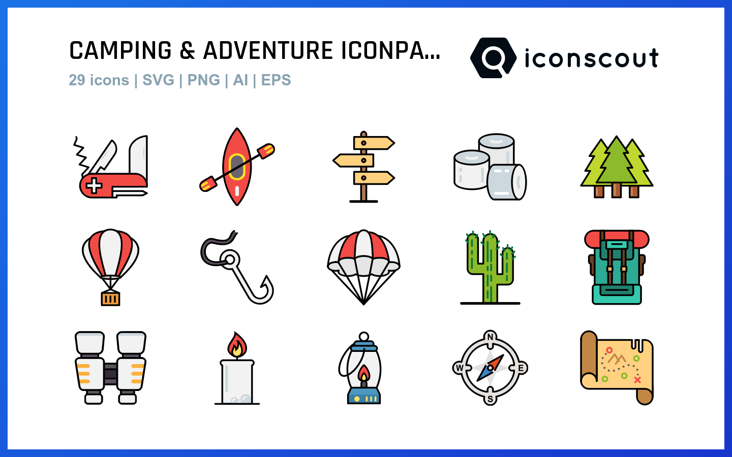 Camping & Adventure icons by Devendra Karkar