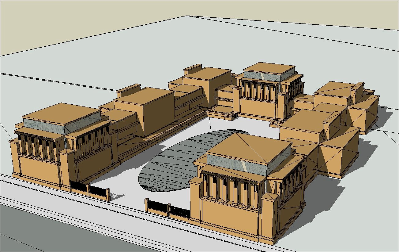 16 projects of frank lloyd wright architecture sketchup 3d