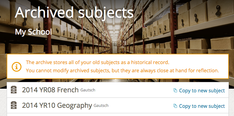 A neat archive example