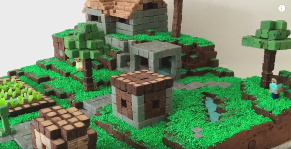 10 easy offline minecraft activities for family fun make a minecraft cake village publicscrutiny Choice Image