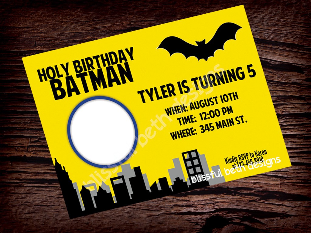 Batman Birthday Invitations Templates Ideas