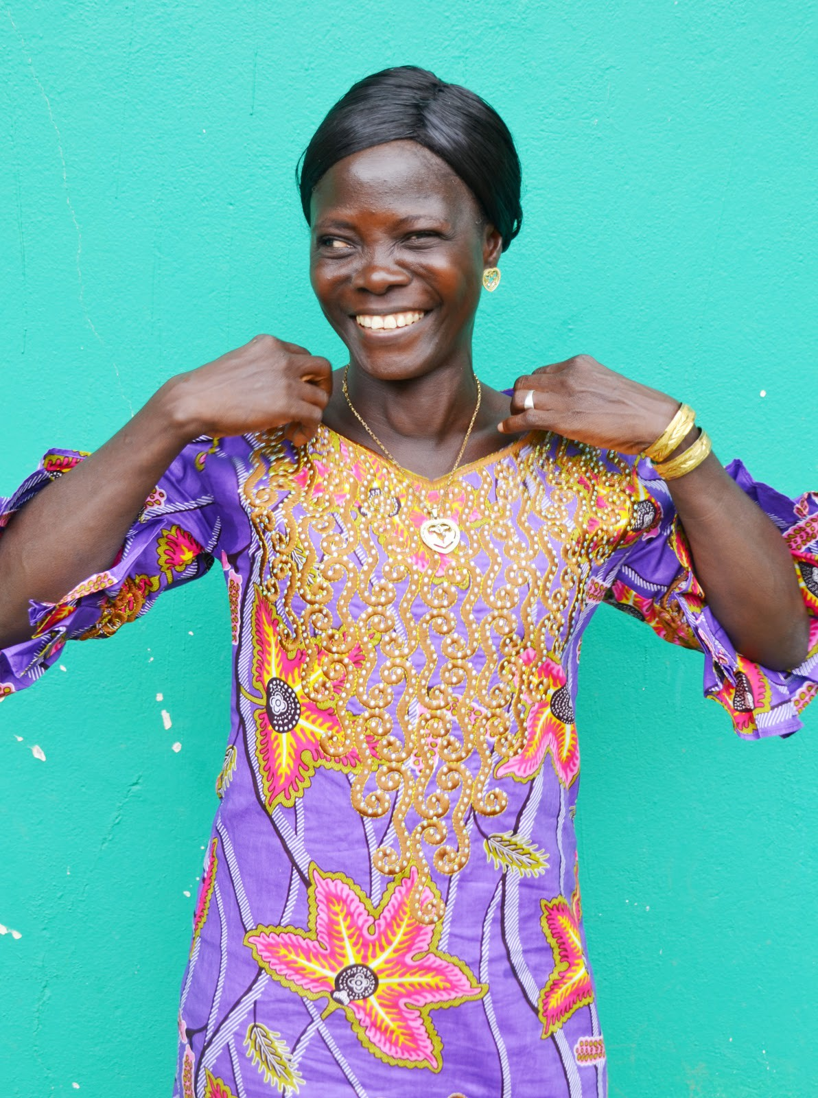 Ma-Watta Dukuly is a USAID-supported community development facilitator who is providing psychosocial support in Doe Community, Liberia for those who were impacted by the Ebola crisis. / Jessica Benton Cooney, USAID
