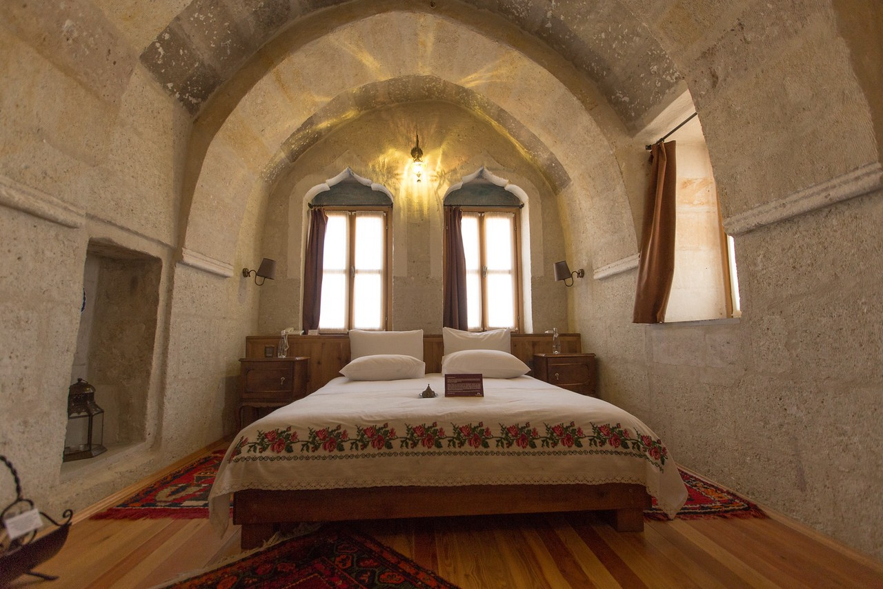 My Bedroom at the Taskonaklar Boutique Cave Hotel in Cappadocia, Turkey