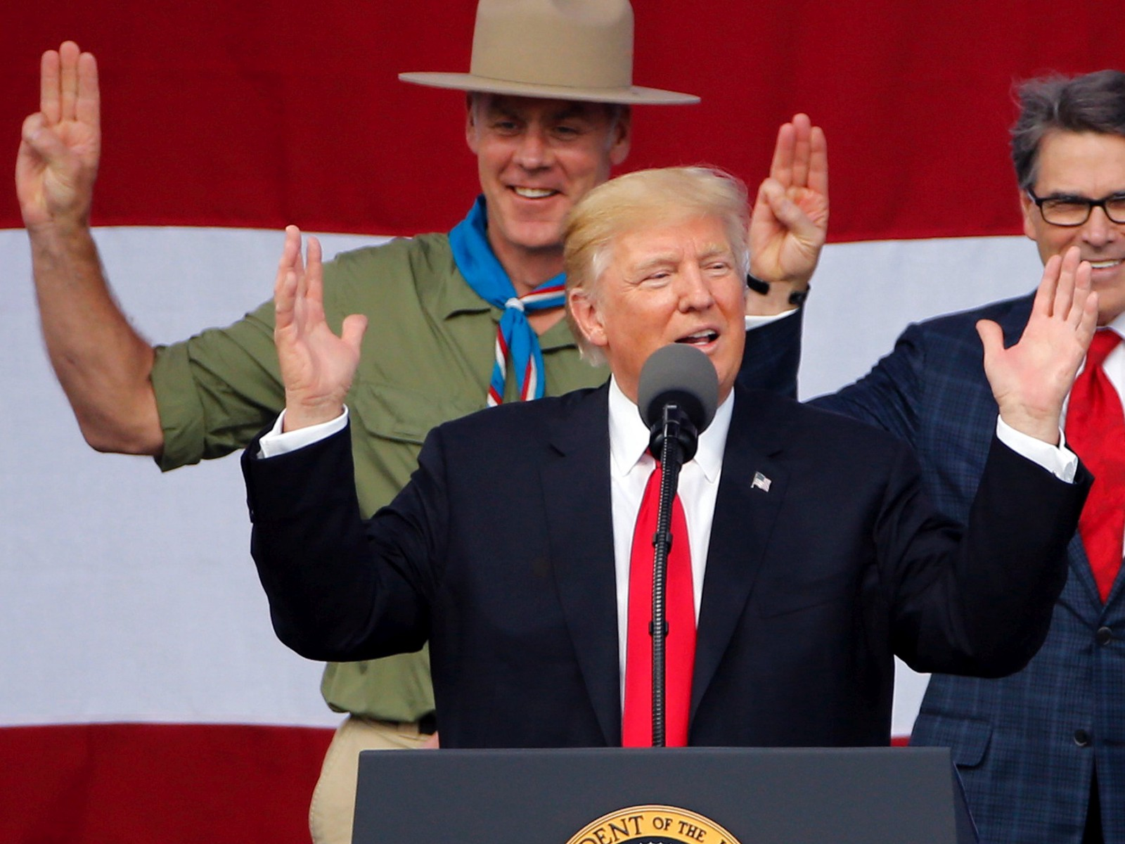 Image result for boy scouts trump